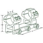 Кронштейн Leapers AccuShot RGPW2PA-25M4