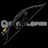 INTERLOPER Лук классический черный 130см